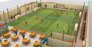 desain lapangan futsal