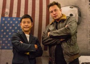 Yusaku Maezawa dan Elon Musk. (Instagram/@yusaku2020)