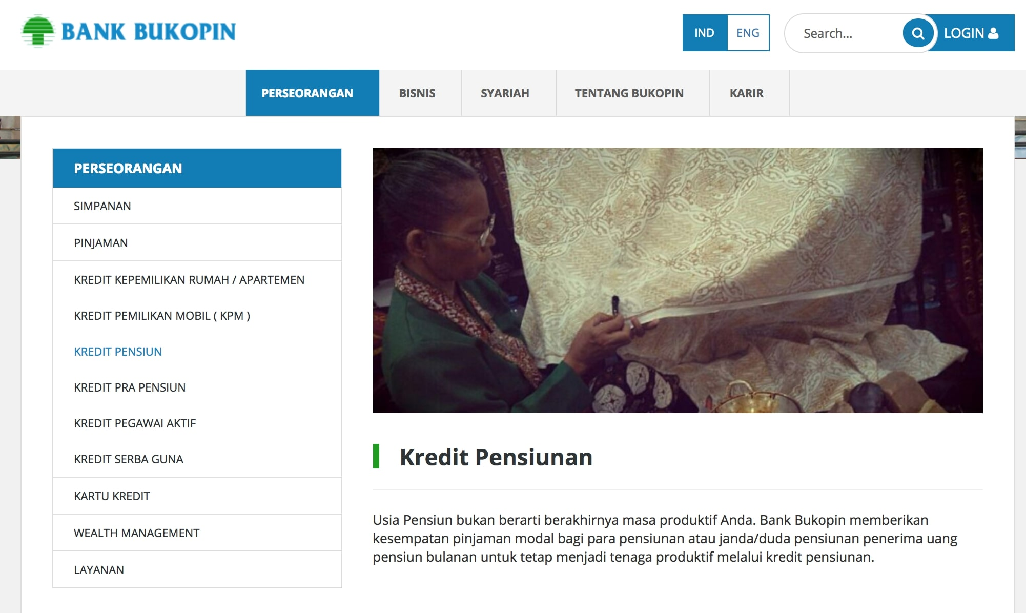 Kredit pensiunan Bank Bukopin. (Bukopin.co.id)
