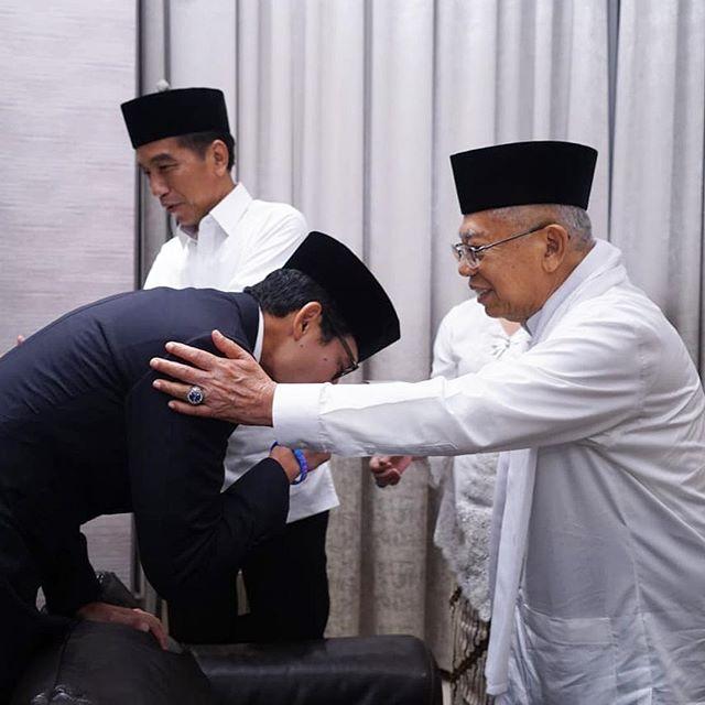 Jokowi dan Ma'ruf Amin (Instagram/@sandiuno)