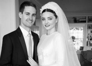 Miranda Kerr dan Evan Spiegel yang kini jadi pasangan hidup. (Instagram/@mirandakerr)