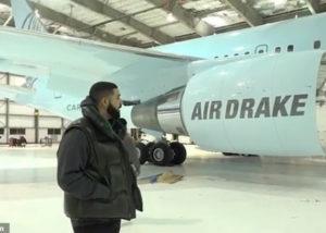 pesawat pribadi drake